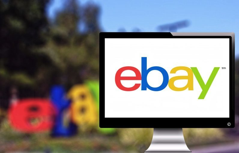eBay Logo on Screen